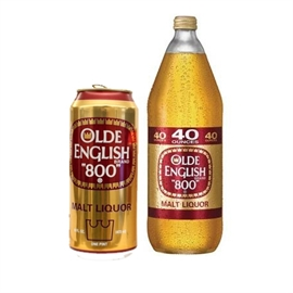 old english beer and can